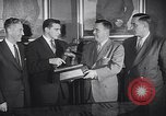 Image of Alan Ameche receives Heisman Trophy New York United States USA, 1954, second 10 stock footage video 65675040178