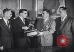 Image of Alan Ameche receives Heisman Trophy New York United States USA, 1954, second 11 stock footage video 65675040178