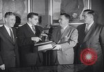Image of Alan Ameche receives Heisman Trophy New York United States USA, 1954, second 12 stock footage video 65675040178
