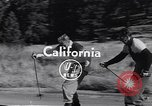 Image of ski-skate early vintage skateboard California United States USA, 1954, second 1 stock footage video 65675040179