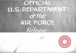 Image of Air Force firepower demonstration United States USA, 1950, second 1 stock footage video 65675040233