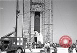 Image of rocket in the launching stand Cocoa Florida USA, 1950, second 8 stock footage video 65675040239