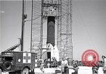 Image of rocket in the launching stand Cocoa Florida USA, 1950, second 9 stock footage video 65675040239