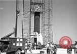 Image of rocket in the launching stand Cocoa Florida USA, 1950, second 11 stock footage video 65675040239
