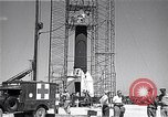 Image of rocket in the launching stand Cocoa Florida USA, 1950, second 12 stock footage video 65675040239