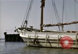 Image of boats James River Virginia USA, 1947, second 5 stock footage video 65675040283