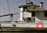 Image of boats James River Virginia USA, 1947, second 10 stock footage video 65675040283