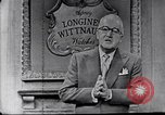 Image of Frank Knight advertising Longines watches United States USA, 1954, second 6 stock footage video 65675040290