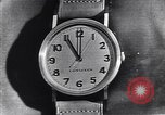 Image of Longines clock United States USA, 1951, second 4 stock footage video 65675040291