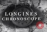Image of Longines clock United States USA, 1951, second 9 stock footage video 65675040291