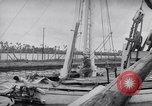 Image of Wooden perahu pinisi cargo boats under sail  Jakarta Indonesia, 1947, second 12 stock footage video 65675040309