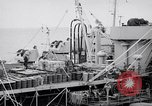Image of USS Chara supply transfer Pacific Ocean, 1950, second 4 stock footage video 65675040317