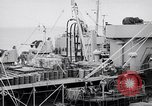 Image of USS Chara supply transfer Pacific Ocean, 1950, second 10 stock footage video 65675040317