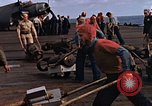 Image of flight deck operations aboard Escort Carrier USS Steamer Bay  Iwo Jima, 1945, second 2 stock footage video 65675040326