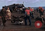 Image of flight deck operations aboard Escort Carrier USS Steamer Bay  Iwo Jima, 1945, second 6 stock footage video 65675040326