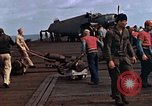 Image of flight deck operations aboard Escort Carrier USS Steamer Bay  Iwo Jima, 1945, second 10 stock footage video 65675040326