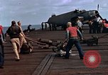 Image of flight deck operations aboard Escort Carrier USS Steamer Bay  Iwo Jima, 1945, second 11 stock footage video 65675040326