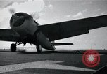 Image of FM-2 aircraft breaks tailwheel in landing Atlantic Ocean, 1945, second 9 stock footage video 65675040338