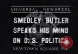 Image of Smedley Butler Newtown Square Pennsylvania USA, 1935, second 1 stock footage video 65675040387