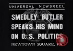 Image of Smedley Butler Newtown Square Pennsylvania USA, 1935, second 2 stock footage video 65675040387