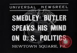 Image of Smedley Butler Newtown Square Pennsylvania USA, 1935, second 3 stock footage video 65675040387