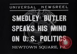 Image of Smedley Butler Newtown Square Pennsylvania USA, 1935, second 5 stock footage video 65675040387