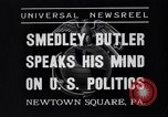 Image of Smedley Butler Newtown Square Pennsylvania USA, 1935, second 6 stock footage video 65675040387
