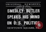 Image of Smedley Butler Newtown Square Pennsylvania USA, 1935, second 7 stock footage video 65675040387