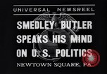 Image of Smedley Butler Newtown Square Pennsylvania USA, 1935, second 9 stock footage video 65675040387