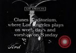 Image of Clunes auditorium Los Angeles California USA, 1916, second 1 stock footage video 65675040391