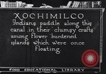 Image of Xochimilco Indians Mexico, 1920, second 1 stock footage video 65675040405