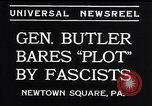 Image of Smedley Butler Newtown Square Pennsylvania USA, 1934, second 2 stock footage video 65675040409