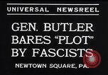 Image of Smedley Butler Newtown Square Pennsylvania USA, 1934, second 3 stock footage video 65675040409