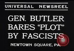 Image of Smedley Butler Newtown Square Pennsylvania USA, 1934, second 5 stock footage video 65675040409
