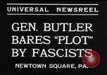 Image of Smedley Butler Newtown Square Pennsylvania USA, 1934, second 6 stock footage video 65675040409