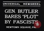 Image of Smedley Butler Newtown Square Pennsylvania USA, 1934, second 7 stock footage video 65675040409