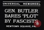 Image of Smedley Butler Newtown Square Pennsylvania USA, 1934, second 9 stock footage video 65675040409