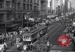Image of Crowded Los Angeles Street during World War II Los Angeles California USA, 1944, second 4 stock footage video 65675040414