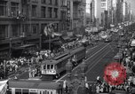 Image of Crowded Los Angeles Street during World War II Los Angeles California USA, 1944, second 7 stock footage video 65675040414