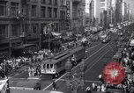 Image of Crowded Los Angeles Street during World War II Los Angeles California USA, 1944, second 8 stock footage video 65675040414