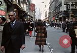 Image of Pedestrians on New York City street 1970 New York City USA, 1970, second 3 stock footage video 65675040525