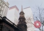 Image of World Trade Center and St Paul's Chapel New York City USA, 1970, second 4 stock footage video 65675040529