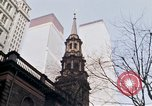 Image of World Trade Center and St Paul's Chapel New York City USA, 1970, second 7 stock footage video 65675040529