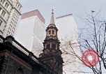 Image of World Trade Center and St Paul's Chapel New York City USA, 1970, second 8 stock footage video 65675040529