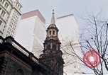 Image of World Trade Center and St Paul's Chapel New York City USA, 1970, second 9 stock footage video 65675040529