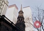 Image of World Trade Center and St Paul's Chapel New York City USA, 1970, second 11 stock footage video 65675040529