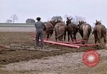 Image of Farmer with horses and mules plows field New York United States USA, 1970, second 3 stock footage video 65675040536