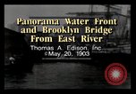 Image of Brooklyn Bridge New York City USA, 1903, second 1 stock footage video 65675040607