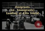 Image of Immigrants arriving at Ellis Island New York City USA, 1903, second 2 stock footage video 65675040610