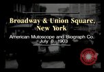 Image of Broadway and Union Square New York United States USA, 1903, second 2 stock footage video 65675040614